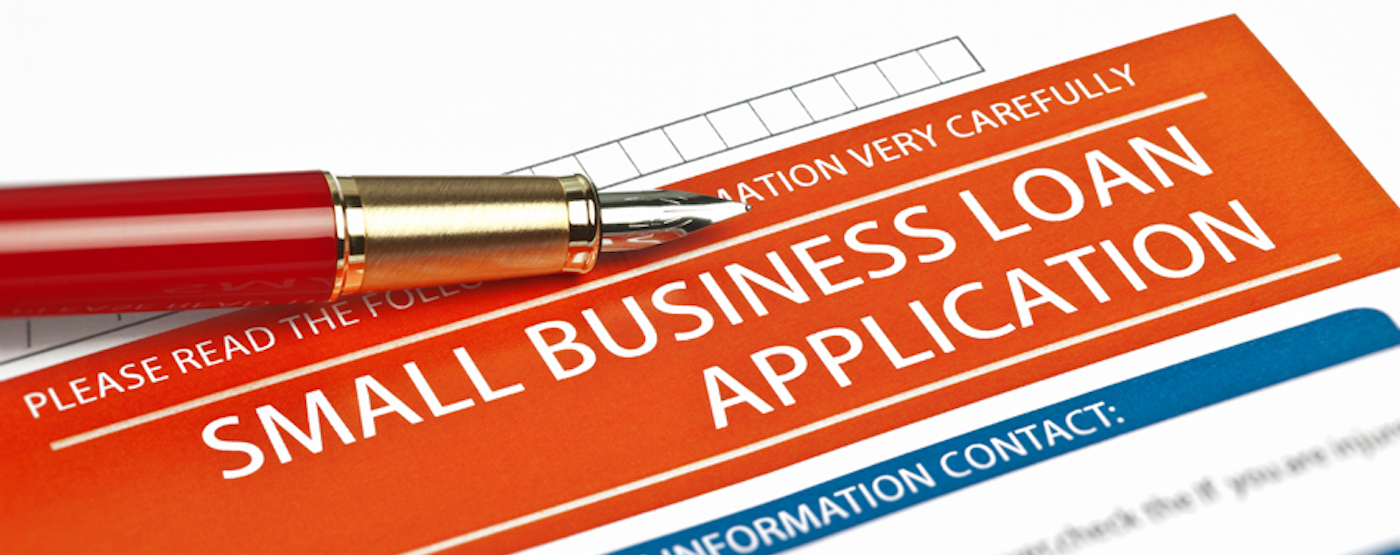 Image of business loan application form.