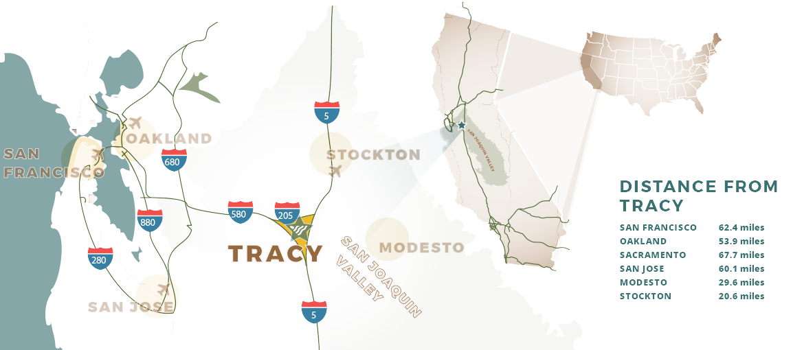 city of tracy map