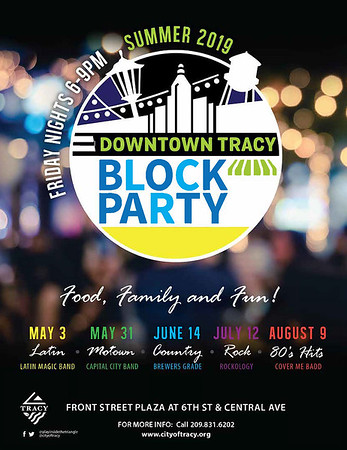 2019 Summer Block Party Flyer